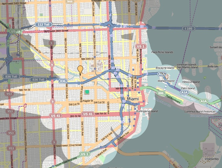 ÖPNV in Miami Qualität des Nahverkehrs Zeitabhängigkeit