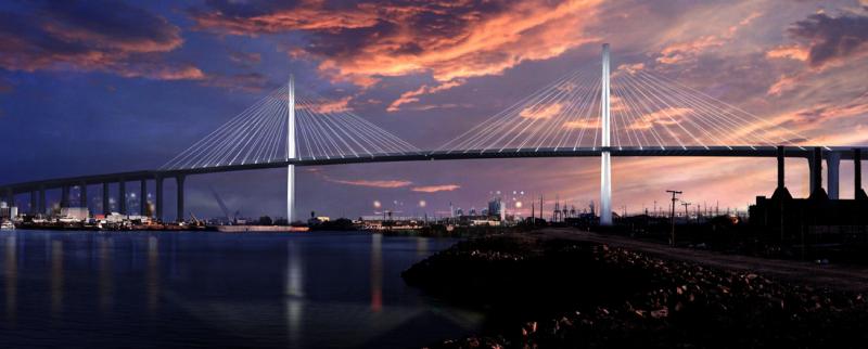 Gerald Desmond Bridge Siemens eHighway Kalifornien