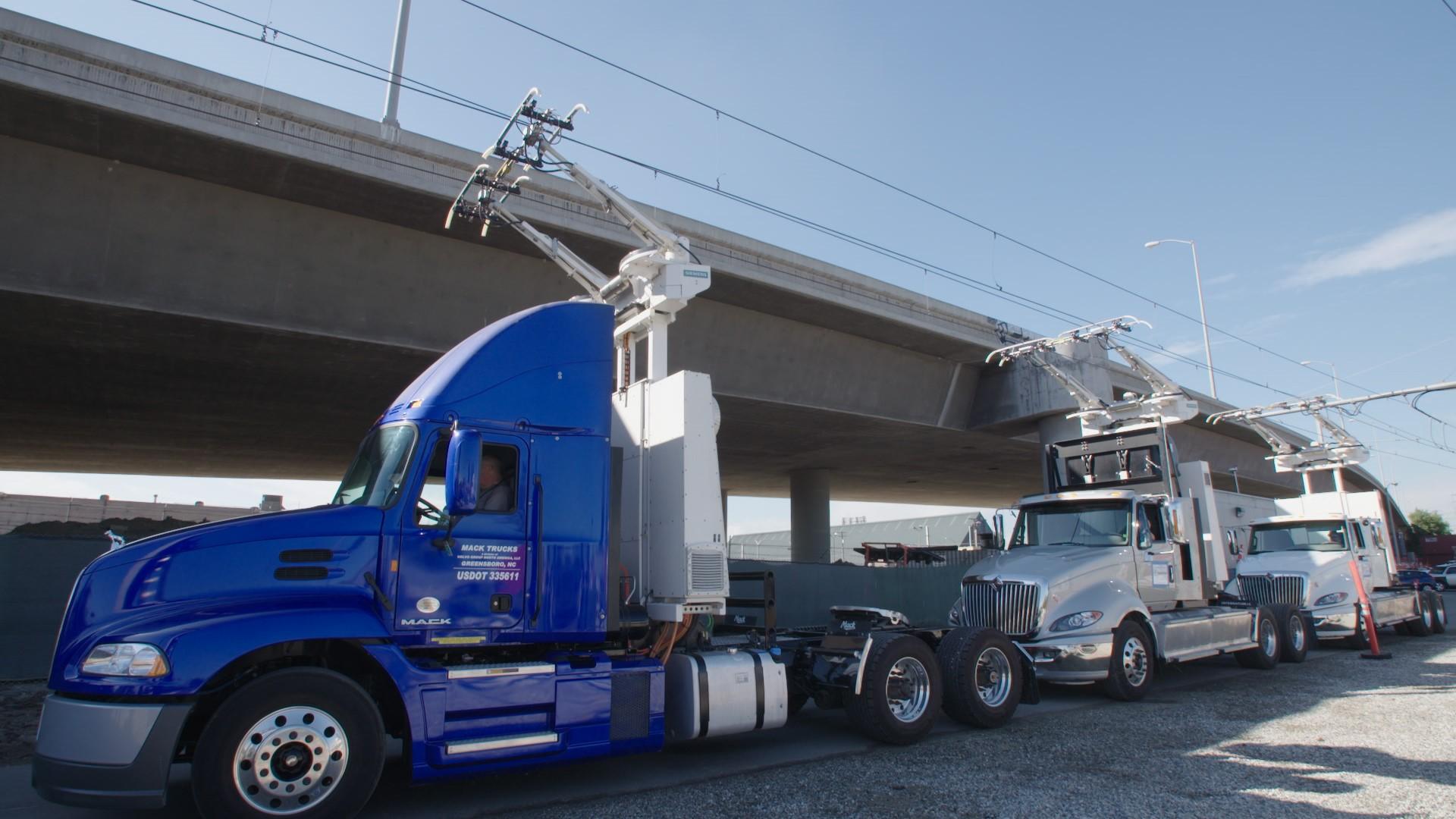 Mack Volvo E-Lkw Kalifornien eHighway Flüssiggas-Hybrid-Lkw Diesel-Hybrid-Lkw