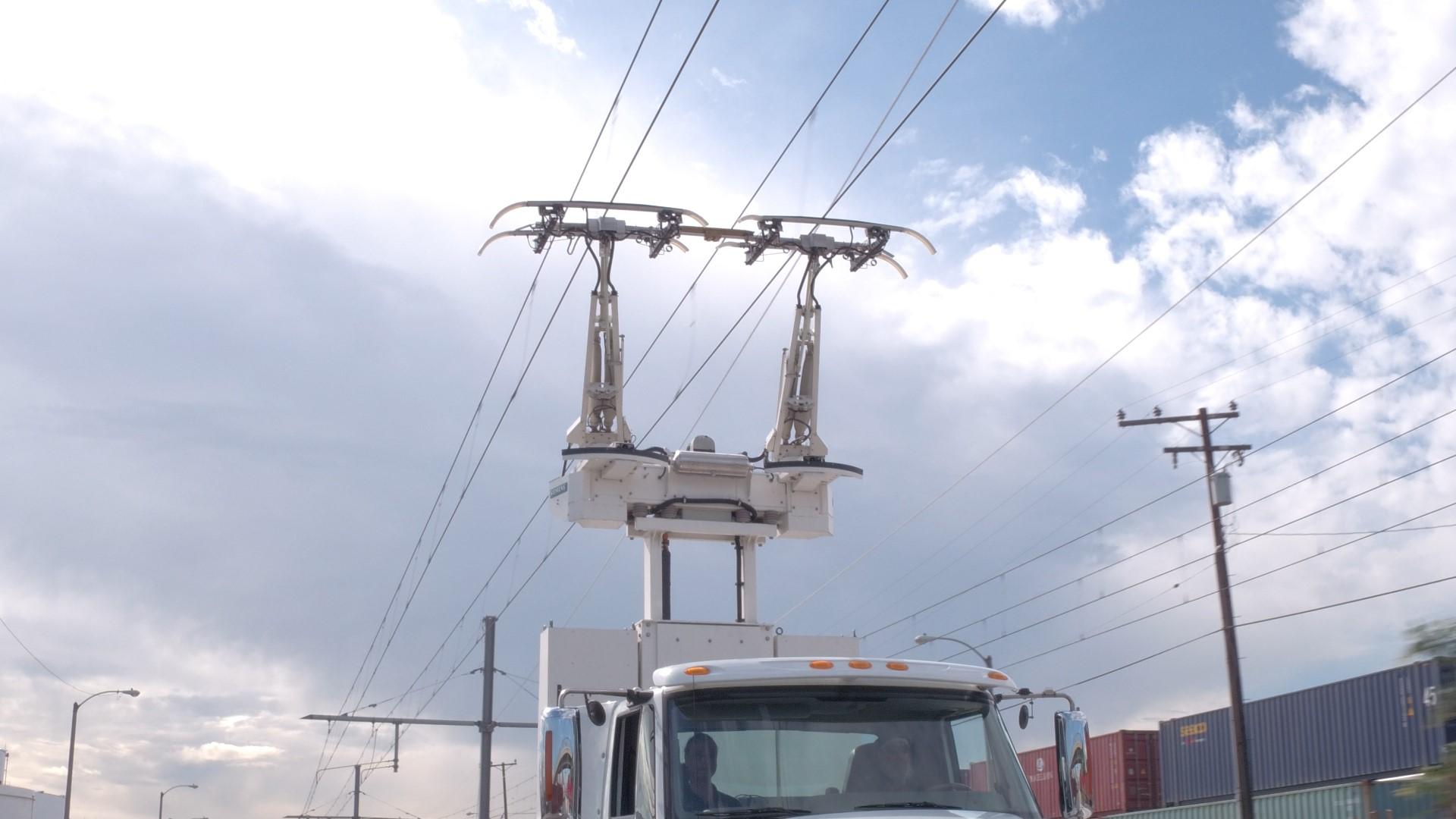 eHighway Kalifornien Stromabnehmer Lkw E-Lkw