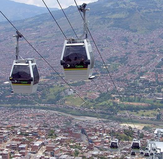 Metrocable Seilbahn in Medellin, Kolumbien