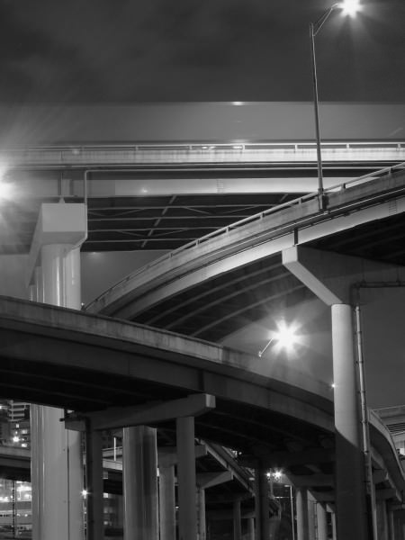 Aufgeständerte Autobahn in den USA