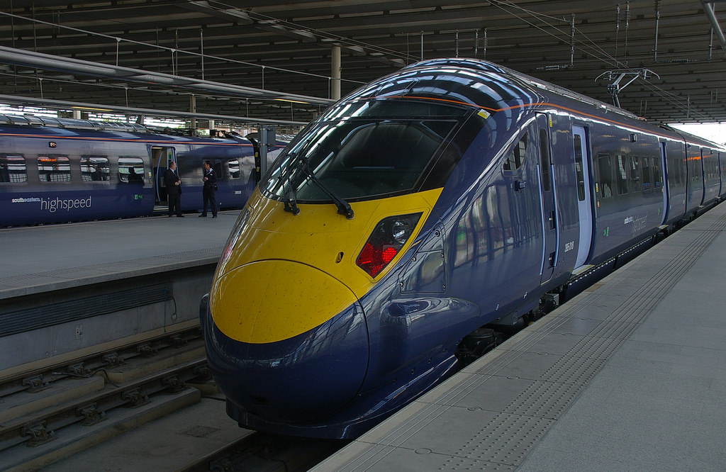 Class 395 Hochgeschwindigkeitszug Großbritannien Eisenbahn