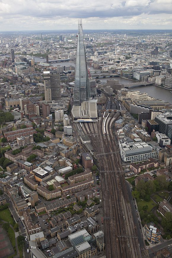 Luftbild The Shard London Bridge