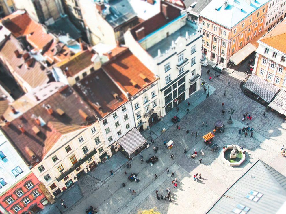Rynok Platz in Lviv in der Ukraine