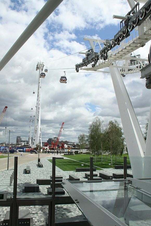 Emirates Air Line in london, Seilbahn