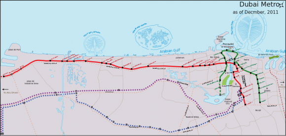 Netzplan U-Bahn Dubau