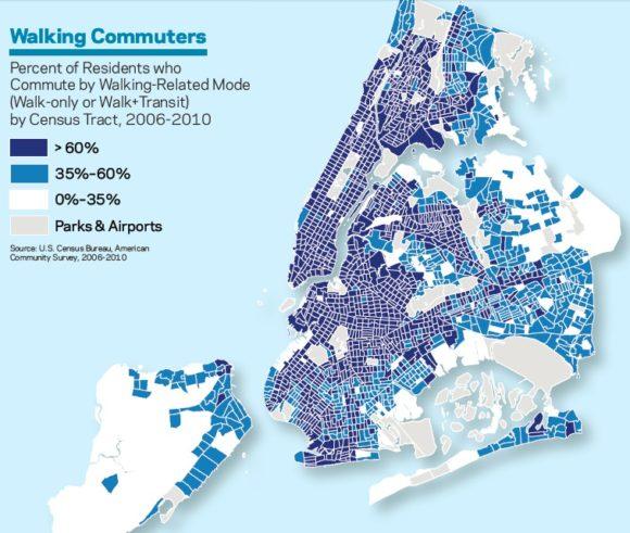 NYC Fußgänger Pendelverkehr