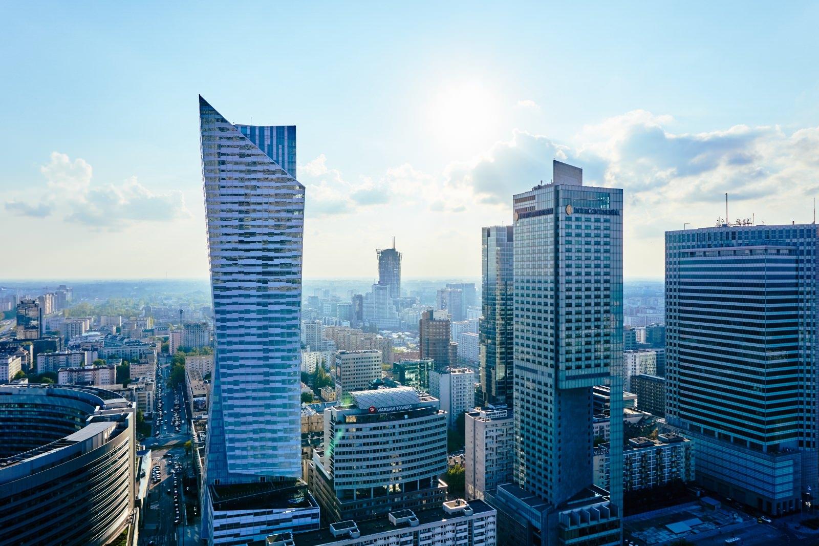 panorama warschau Polen Skyline Hochhäuser