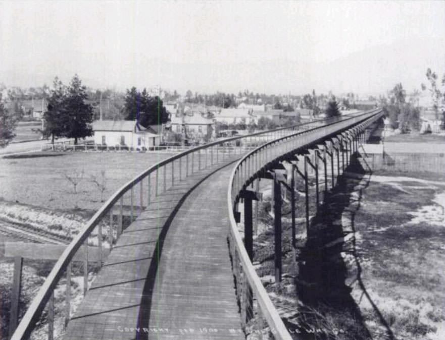 Pasadena Los Angeles aufgeständerter Radweg 1900