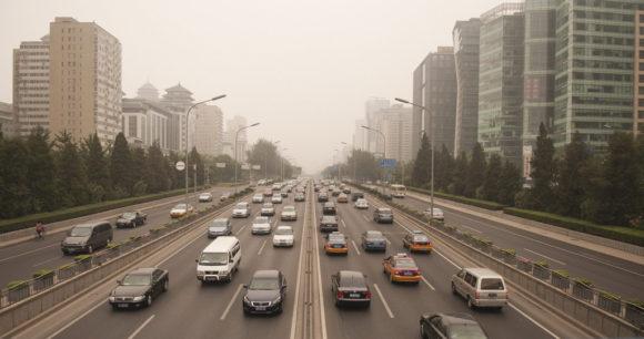 Smog Verkehr Luftverschmutzung Abgase
