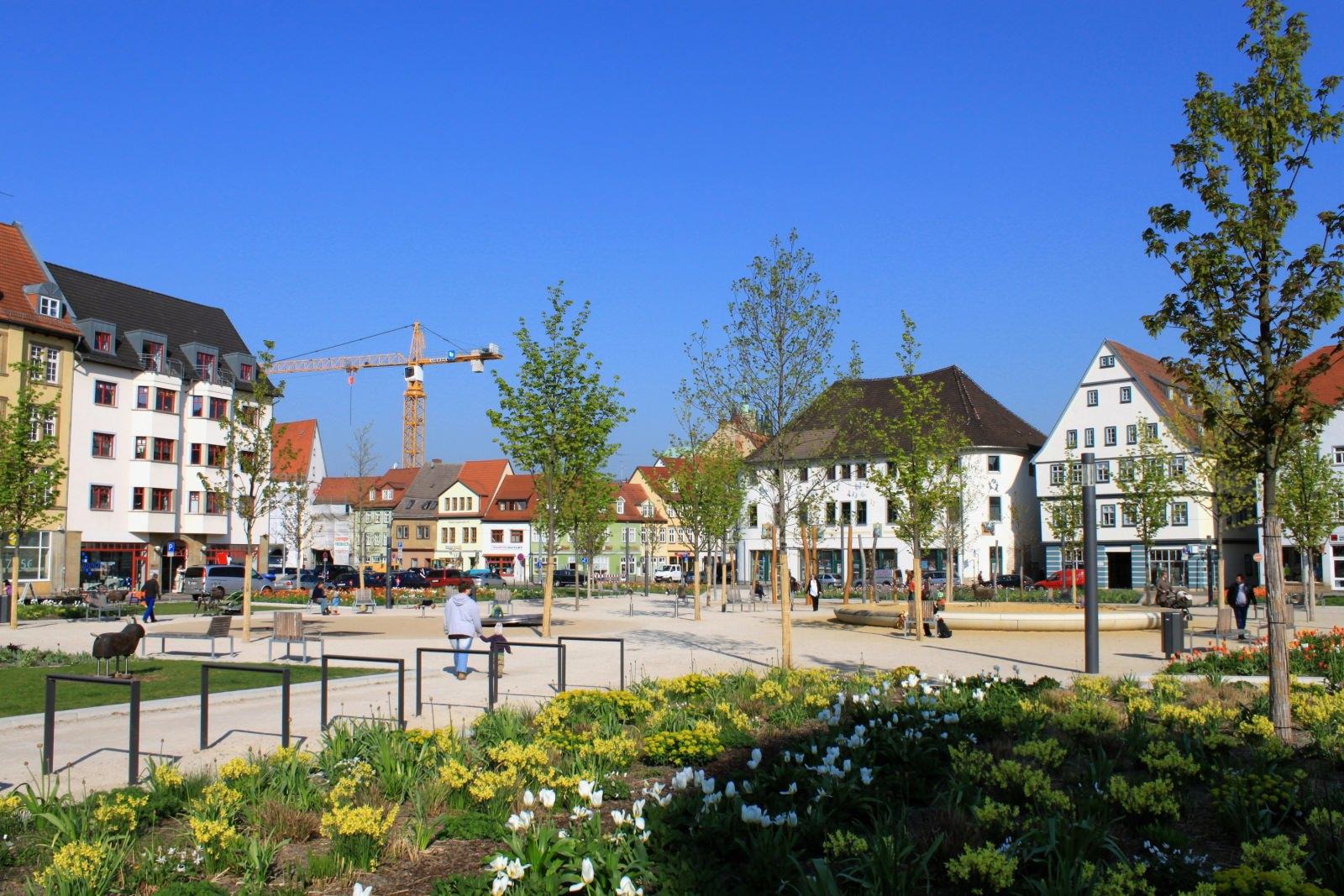 Erfurt Innenstadt Nutzungsdurchmischung öffentlicher Raum Freiraum Platzgestaltung