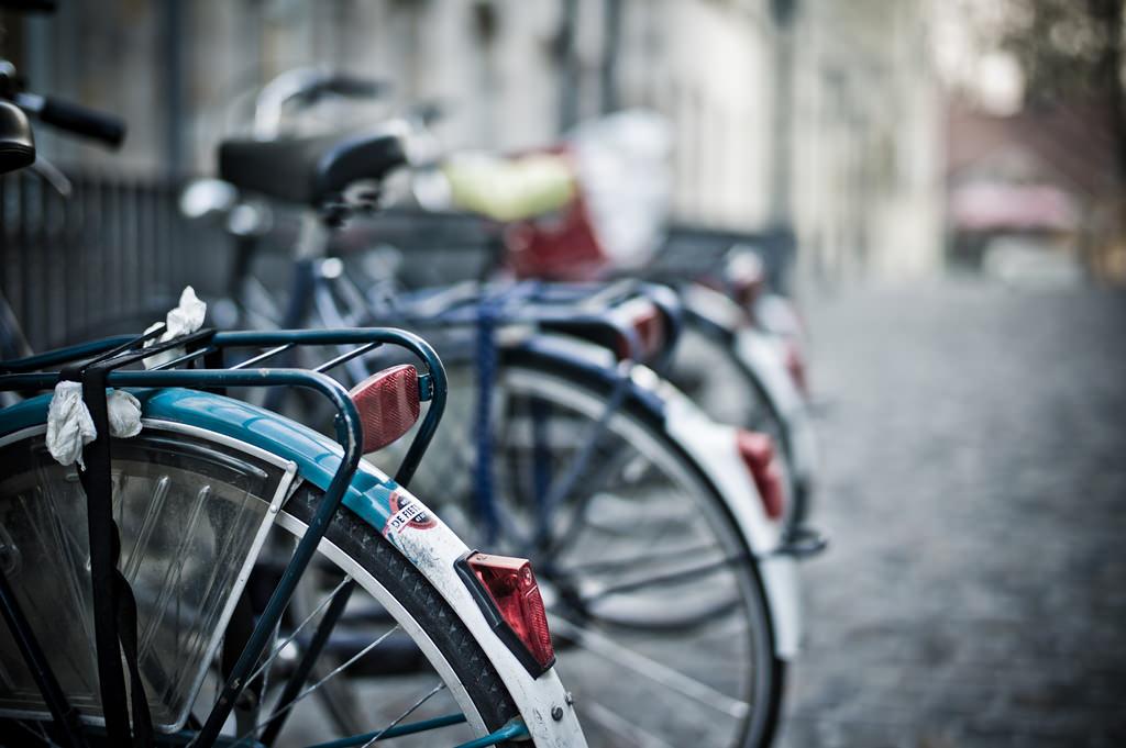 Fahrräder in der deutschen Fahrradhauptstadt Münster