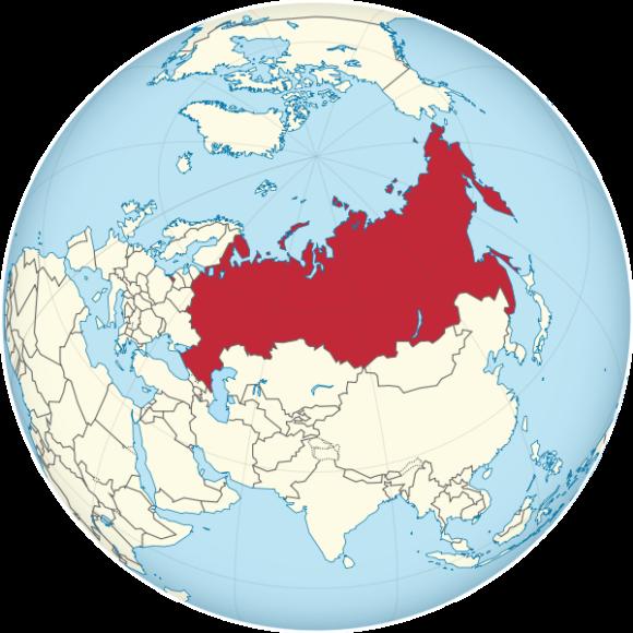 Weltkarte Russland