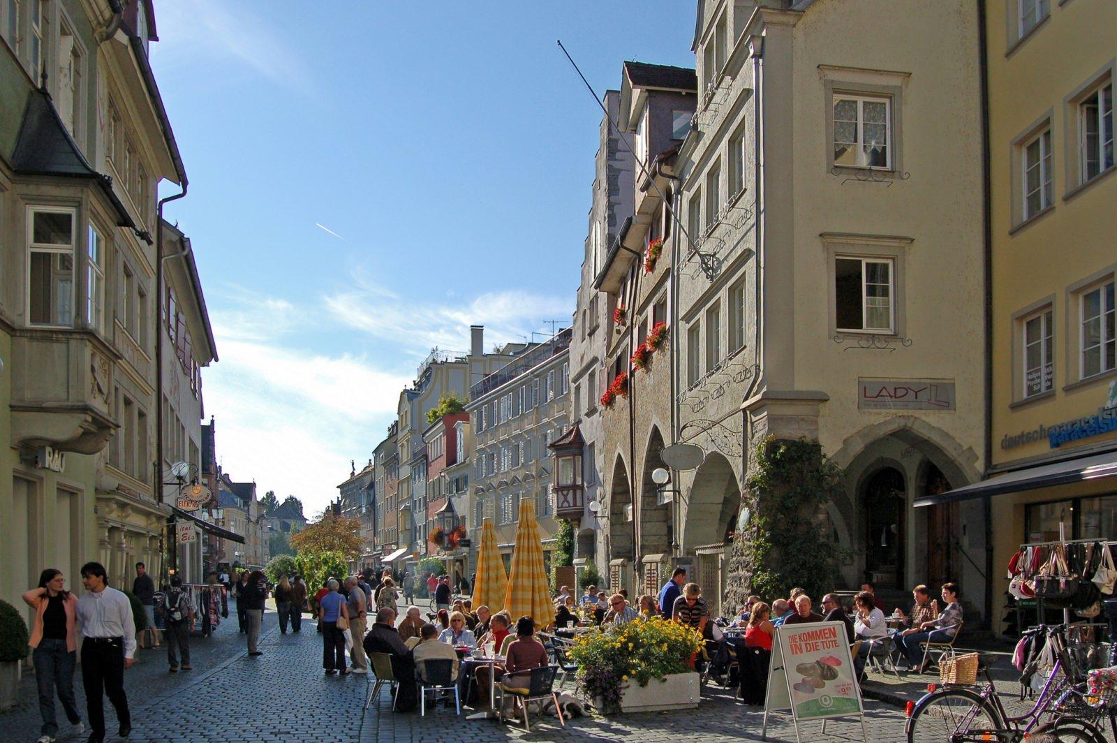 Lindau Altstadt fußgängerzone