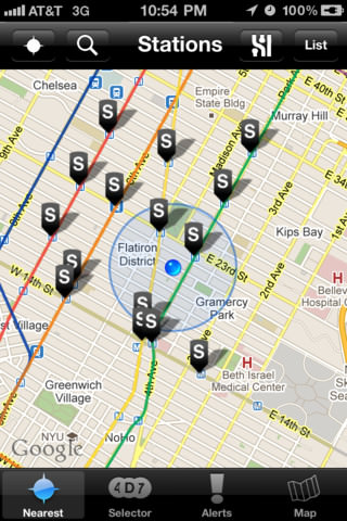 Free MTA Screenshots des New York Subway Locator