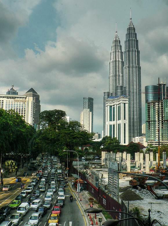Stau in Kuala Lumpur