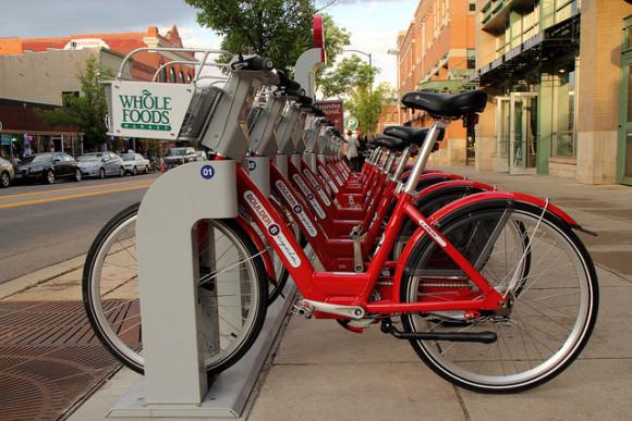 Bikesharing Bolder Colorado USA