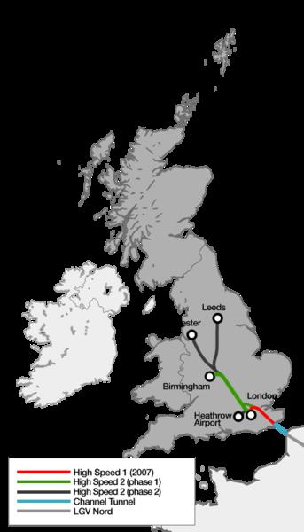 HS2 UK Hochgeschwindigkeitszug Schnellfahrstrecke