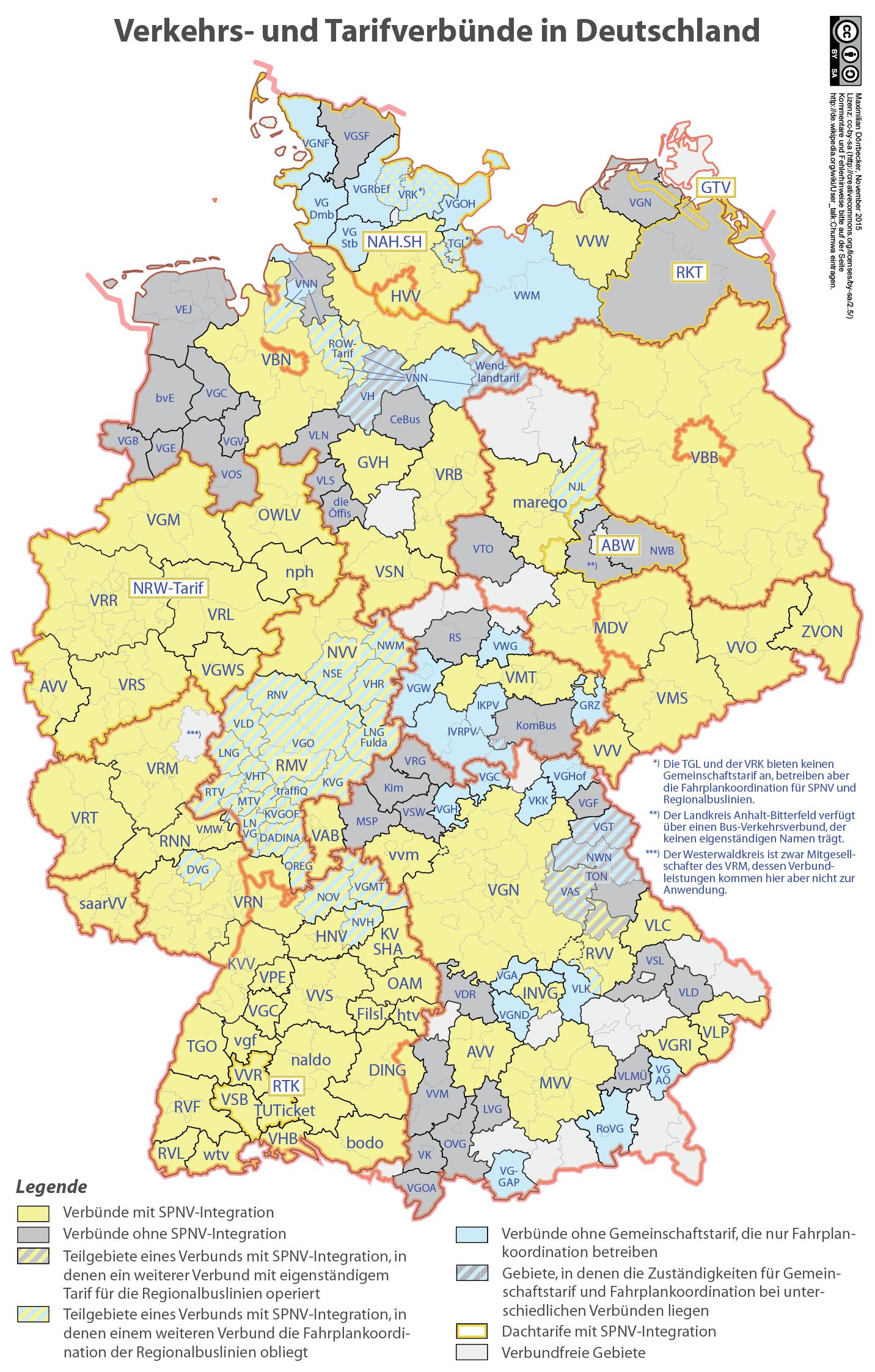 SPNV Aufgabenträger Besteller in Deutschland