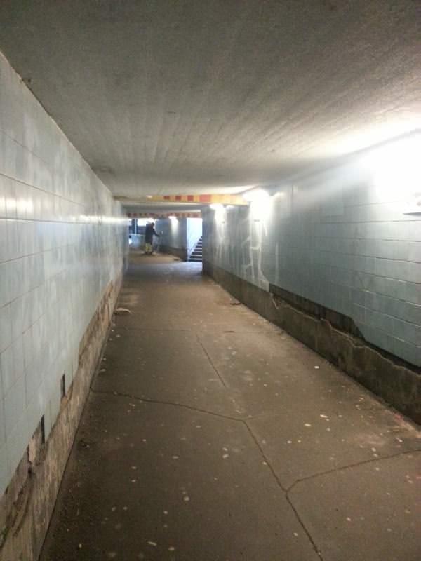 Fußgänger Slussen Stockholm kein Spaß