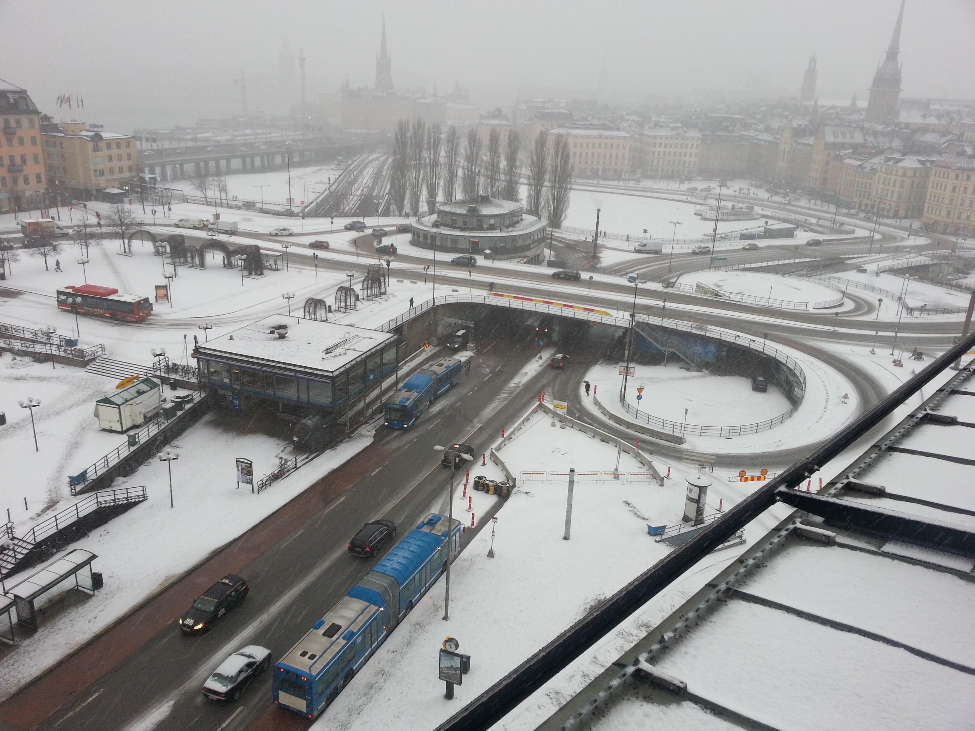 Slussen Stpckholm Februar 2013