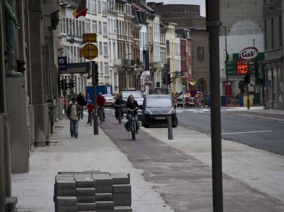 Radweg in Antwerpen
