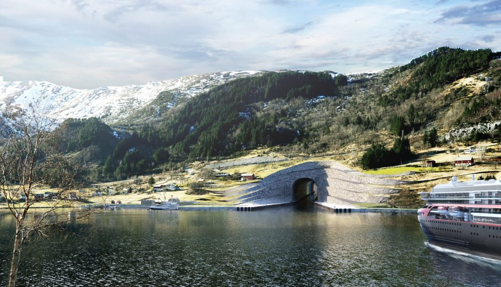 Schiffstunnel Norwegen Tunnel für Schiffe
