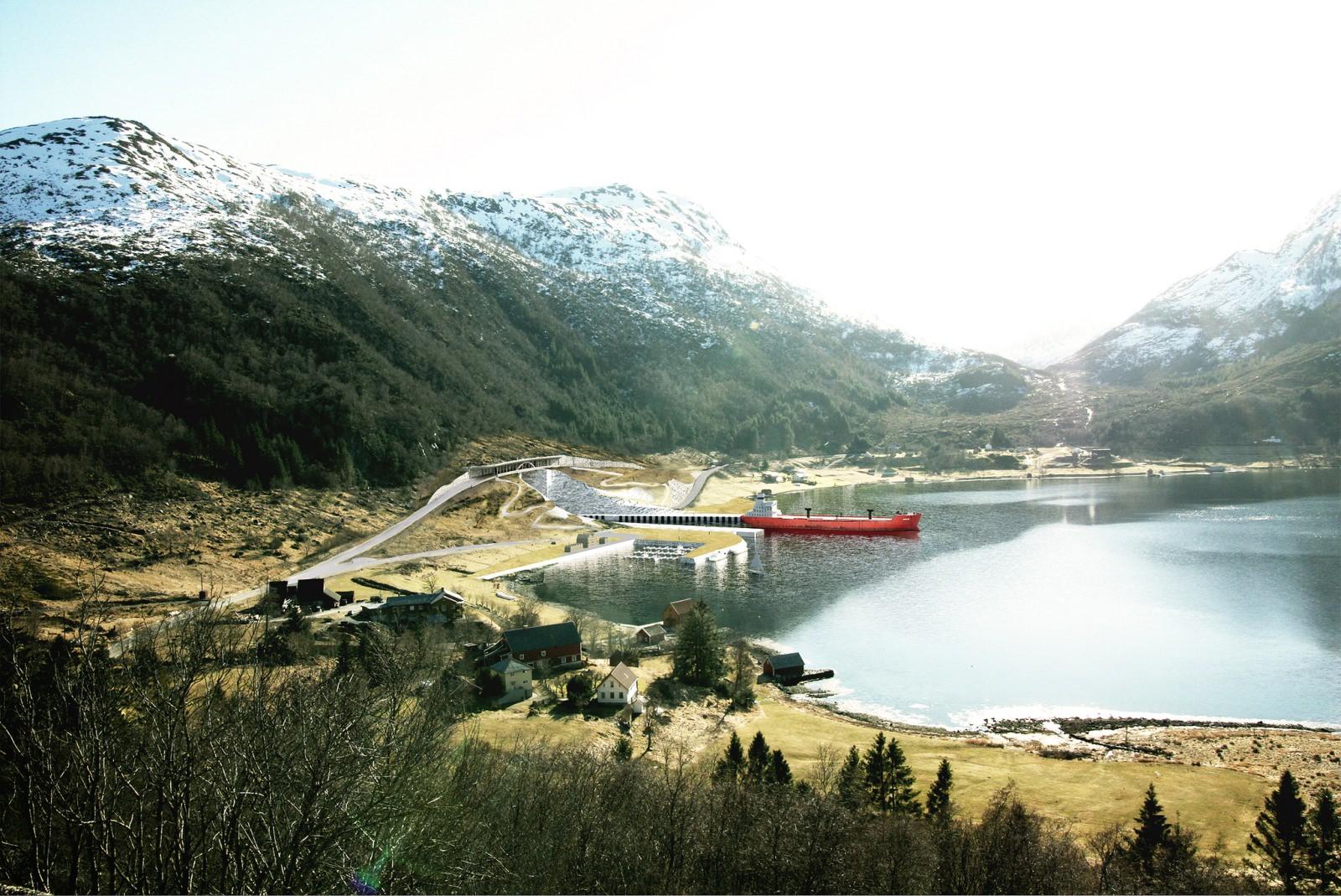 Schiffstunnel in Norwegen Tunnel für Schiffe stad skipstunnel