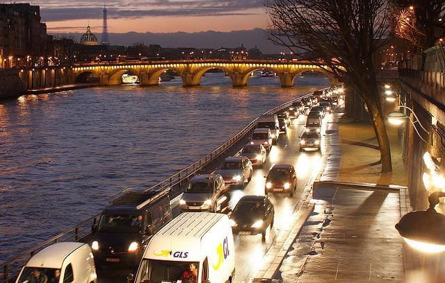 Paris Seine Voie Georges-Pompidou Straße