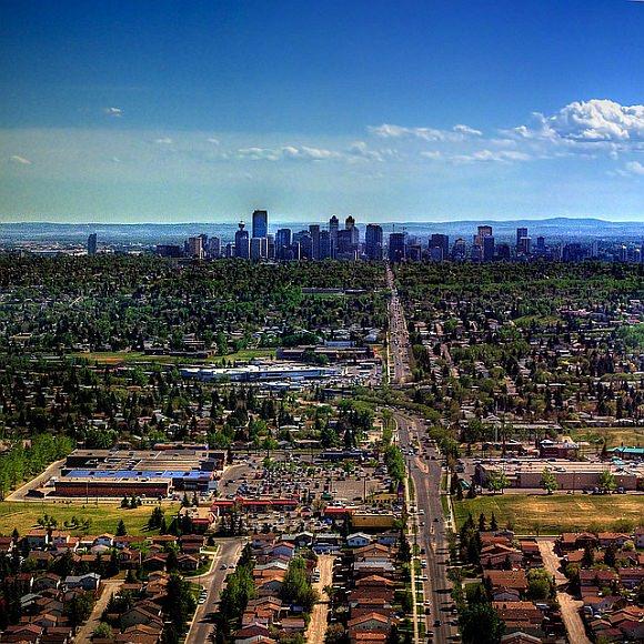 Suburbanisierung Sprawl Calgary