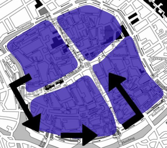 Groningen Autoverkehr Innenstadt Einbahnstraßen Verkehrsorganisation