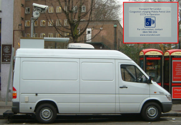 London congestion charge mobile unit