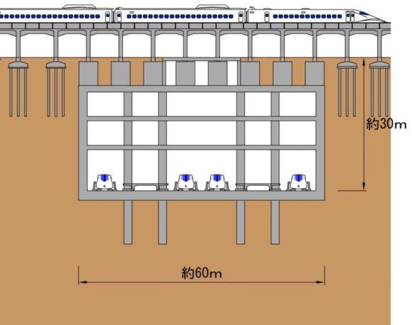 Chuo Shinkansen Bahnhof Nagoya Bau