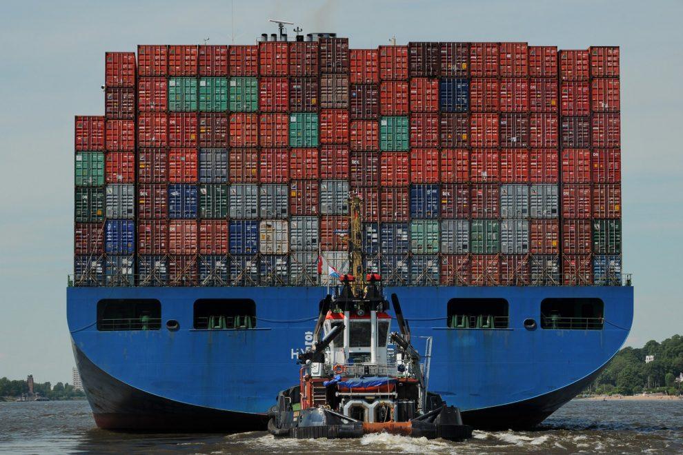 Containerschiff Hamburg Elbe Schiff Container Hafen