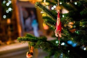 Foto Weihnachten Christbaumschmuck Weihnachtsmann