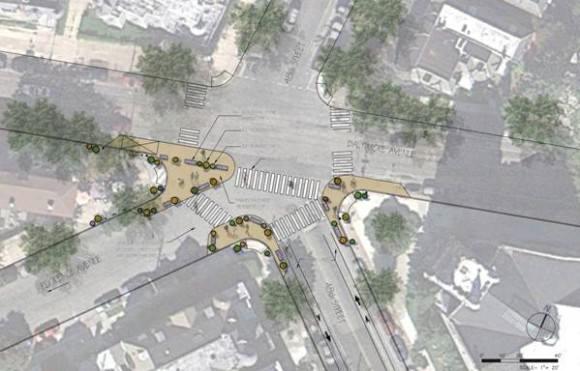 Philadelphia Plan der umgestalteten Kreuzung