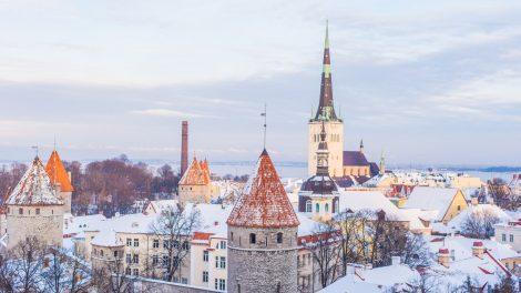 Tallinn Estland Winter Fahrscheinlos Umlagefinanziert