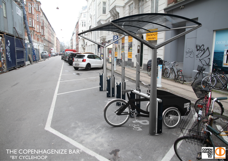 Copenhagenize Bar Cargobikes Abstellung
