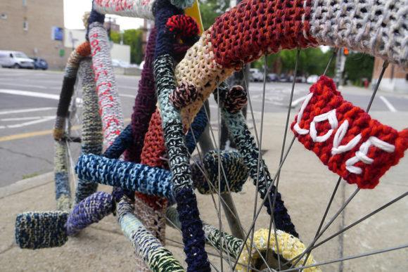 Fahrradkunst in Montreal