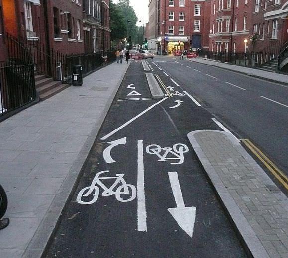 Negativbeispiel London Radweg