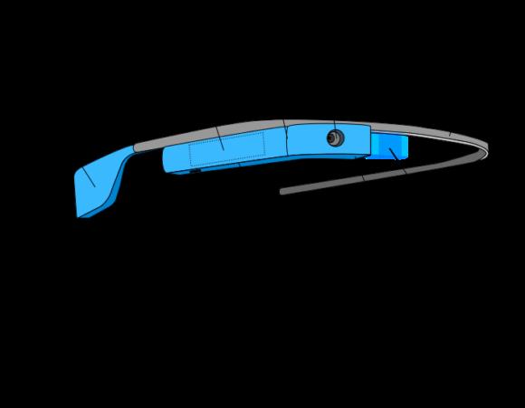 Zeichnung Google Glass
