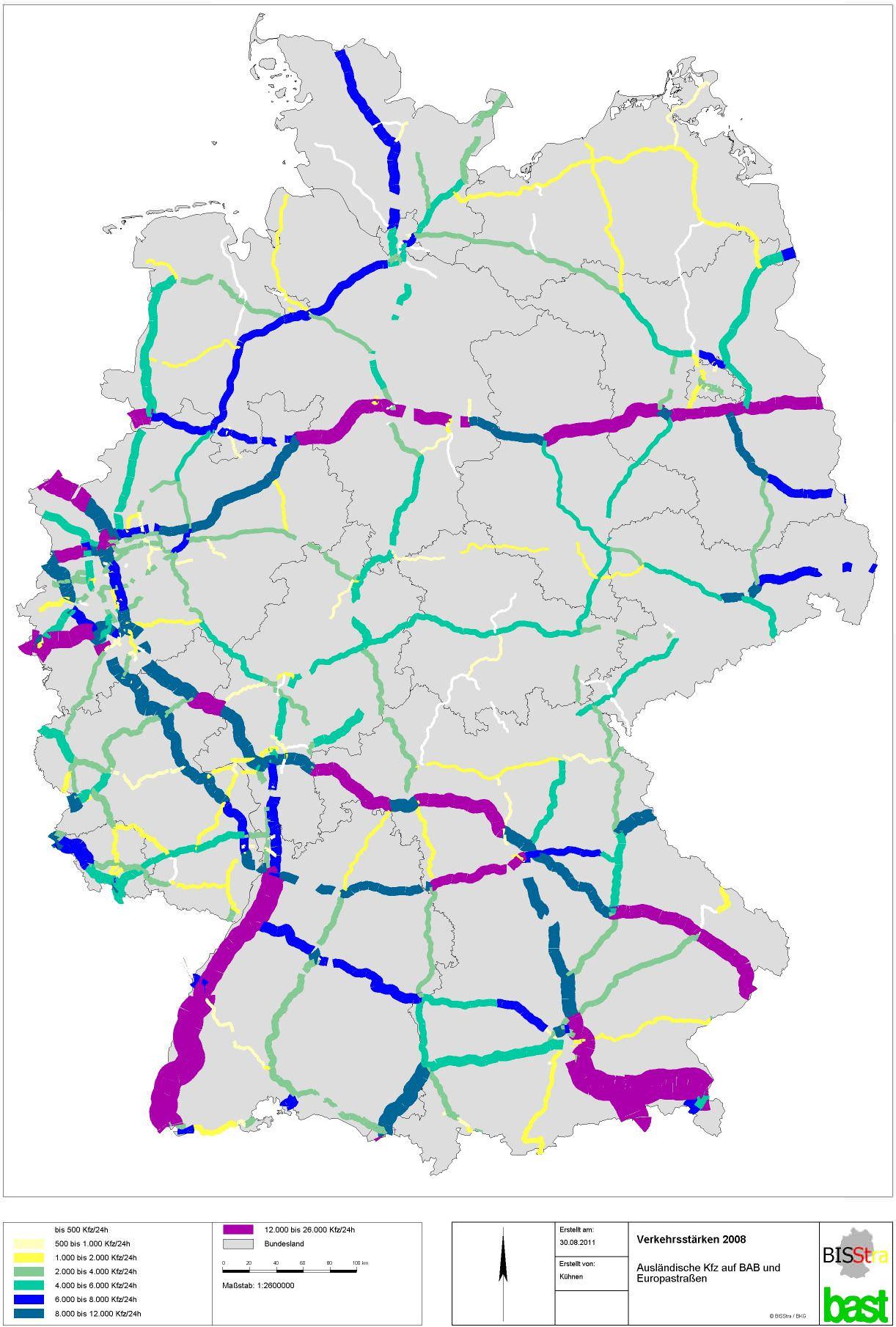 Verkehrslage Deutschland Autobahnen