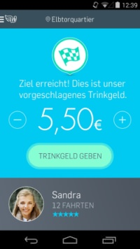 Screenshot der Wundercar trnkgeld Probelamtik