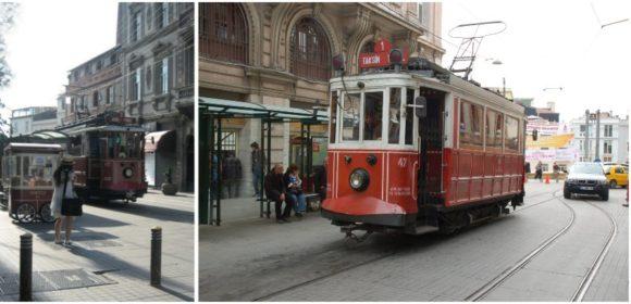 Historische Straßenbahnen in Istanbul