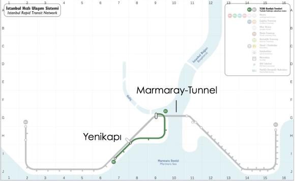 SPNV Netz Istanbul Marmaray