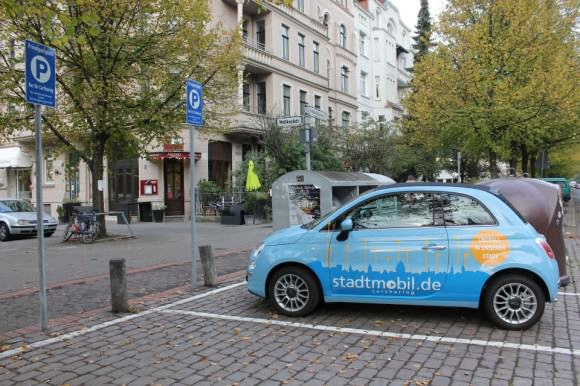 Carsharing-Station in Hannover von Stadtmobil