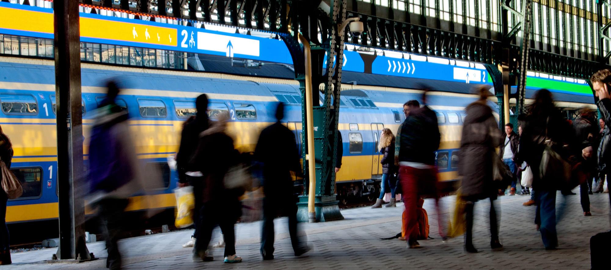 Ziukunft der Fahrgastinformation Eisenbahn Niederlande Designstudio Pro Rail