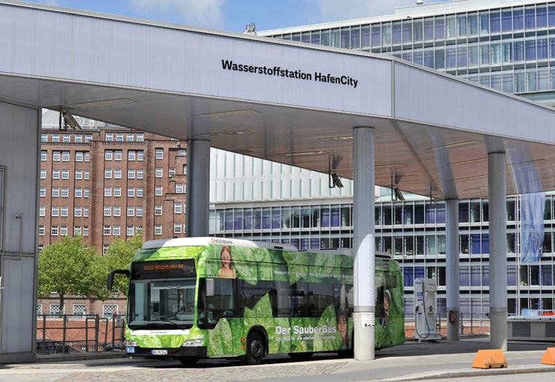 Wasserstoffbus Hamburg Hochbahn Brennstoffzellenhybridbus