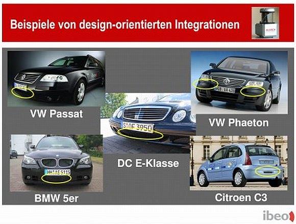 Integration von Laserscannern in ein Fahrzeug
